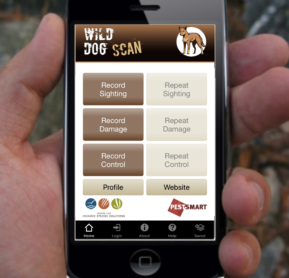 Download the App to record wild dog information