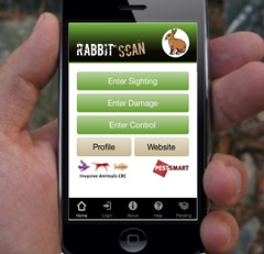 Use your mobile phone to map rabbit problem sites